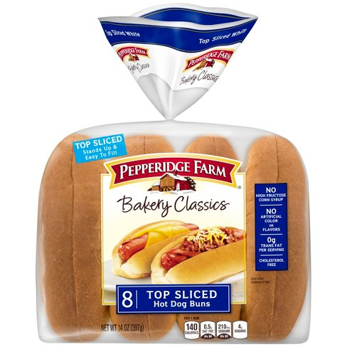 Pepperidge Farm Bakery Classics Top Sliced Whit eHot Dog Buns - 14oz/8ct - image 1 of 4