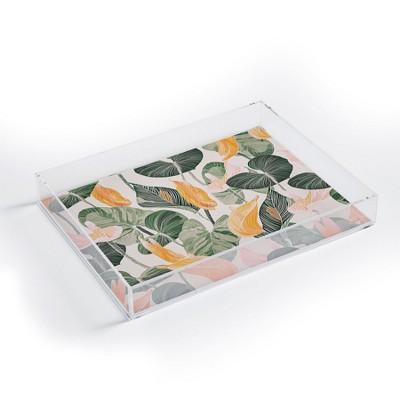 Gale Switzer Lush Lily Autumn Acrylic Tray - Deny Designs
