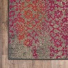 Climbing Floral Area Rug - Gray/Pink - image 3 of 3