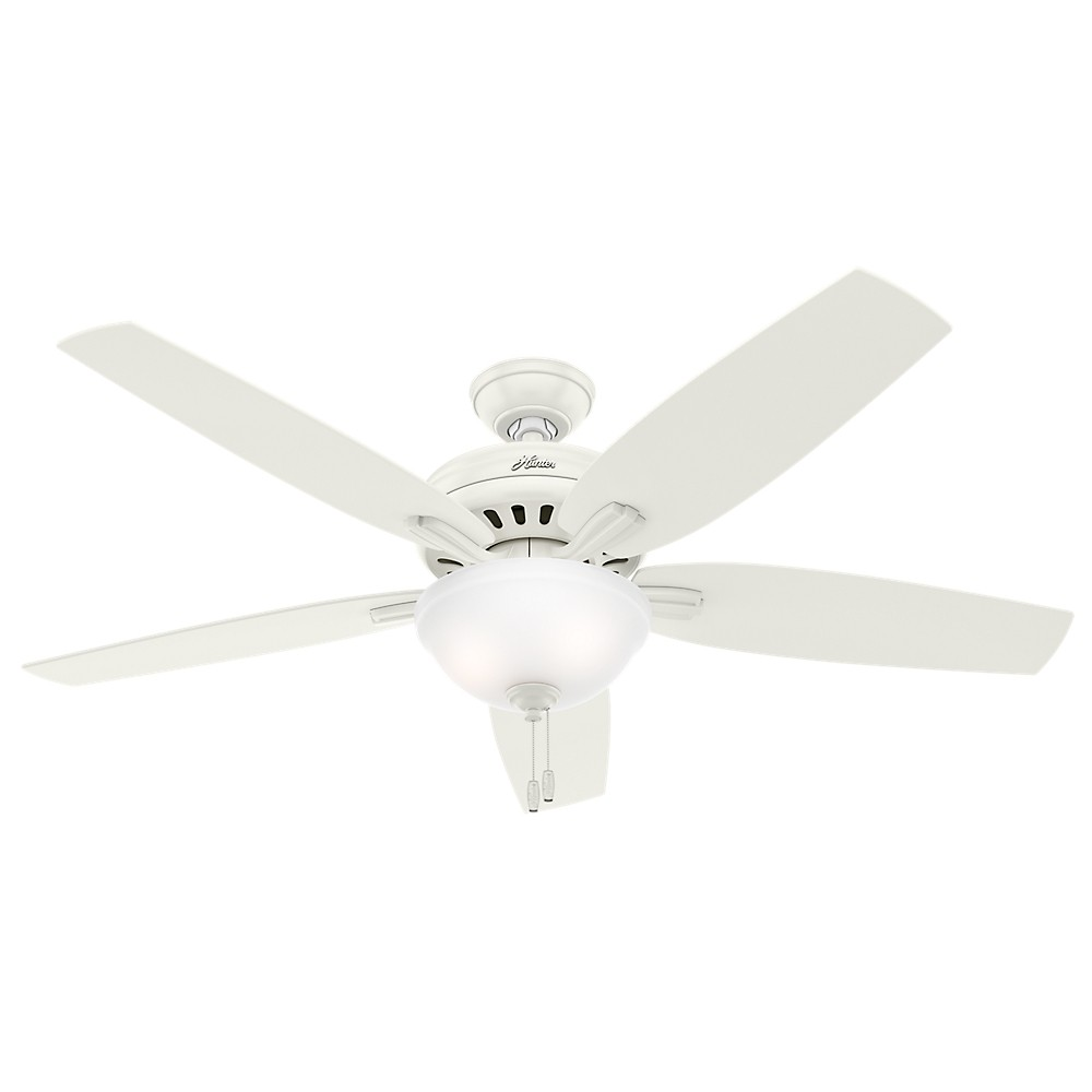 """Image of """"56"""""""" Newsome Fresh White Ceiling Fan with Light - Hunter Fan"""""""