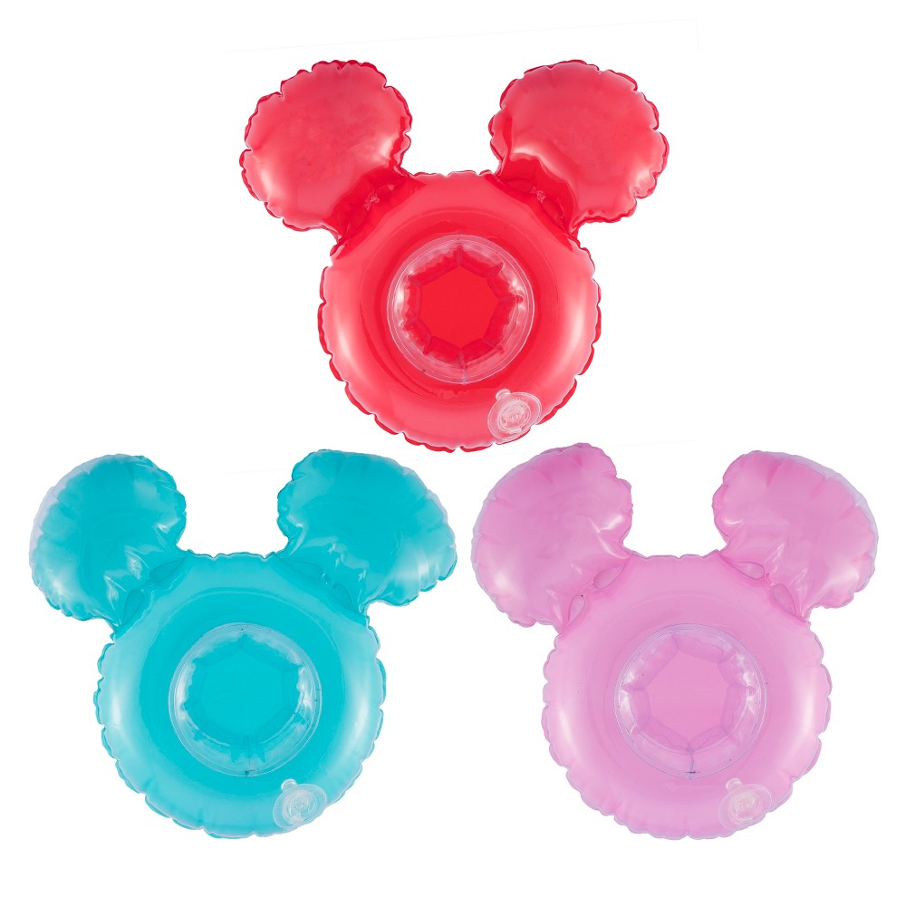 Swimways Mickey Mouse Beverage Boats - 3pk, Multi-Colored