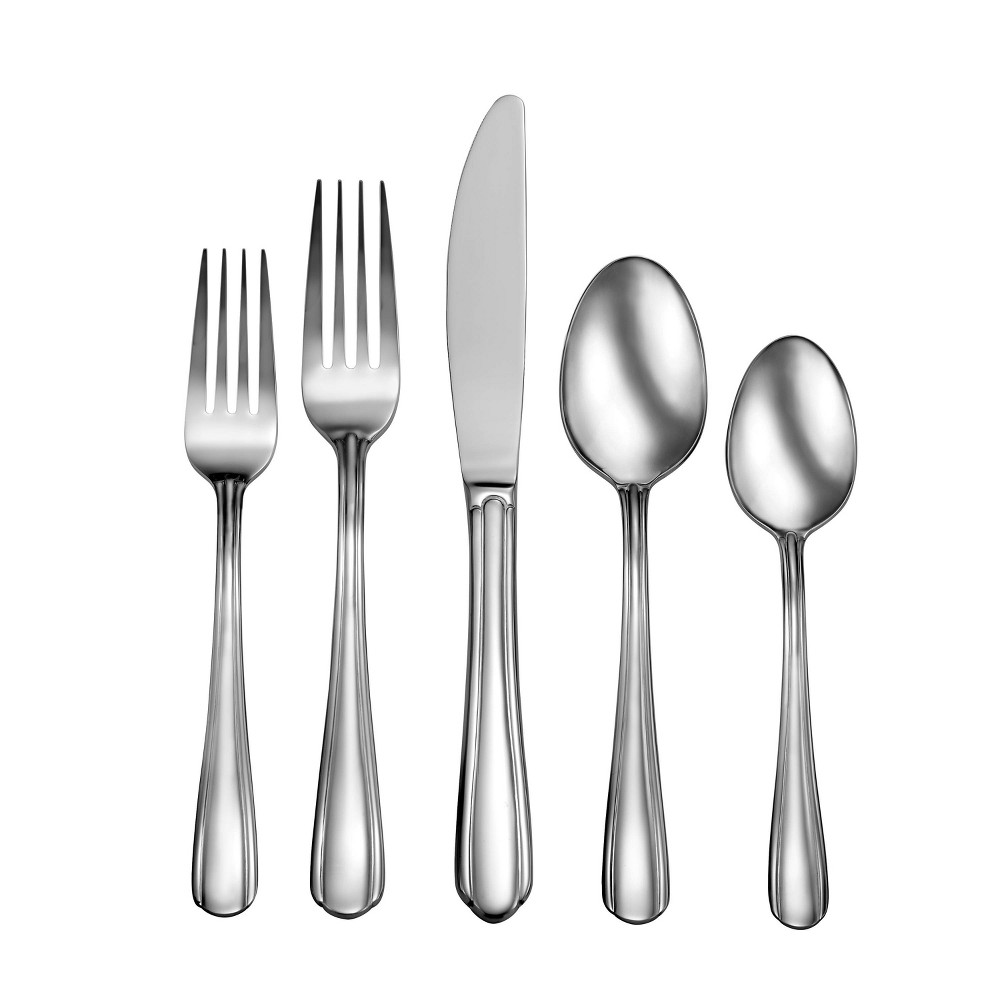 Image of 20pc Stainless Steel Eastlyn Silverware Set - Studio Set