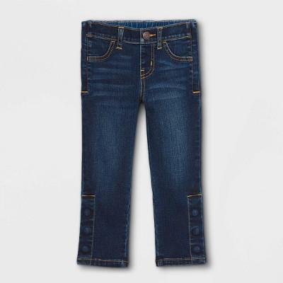 Toddler Girls' Adaptive Diaper Friendly Jeans - Cat & Jack™ Medium Wash