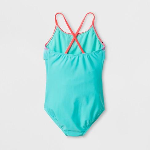 c63b04afd5b51 Girls' Watermelon Cutie One Piece Swimsuit Set With Skirt - Cat & Jack™ Mint  : Target