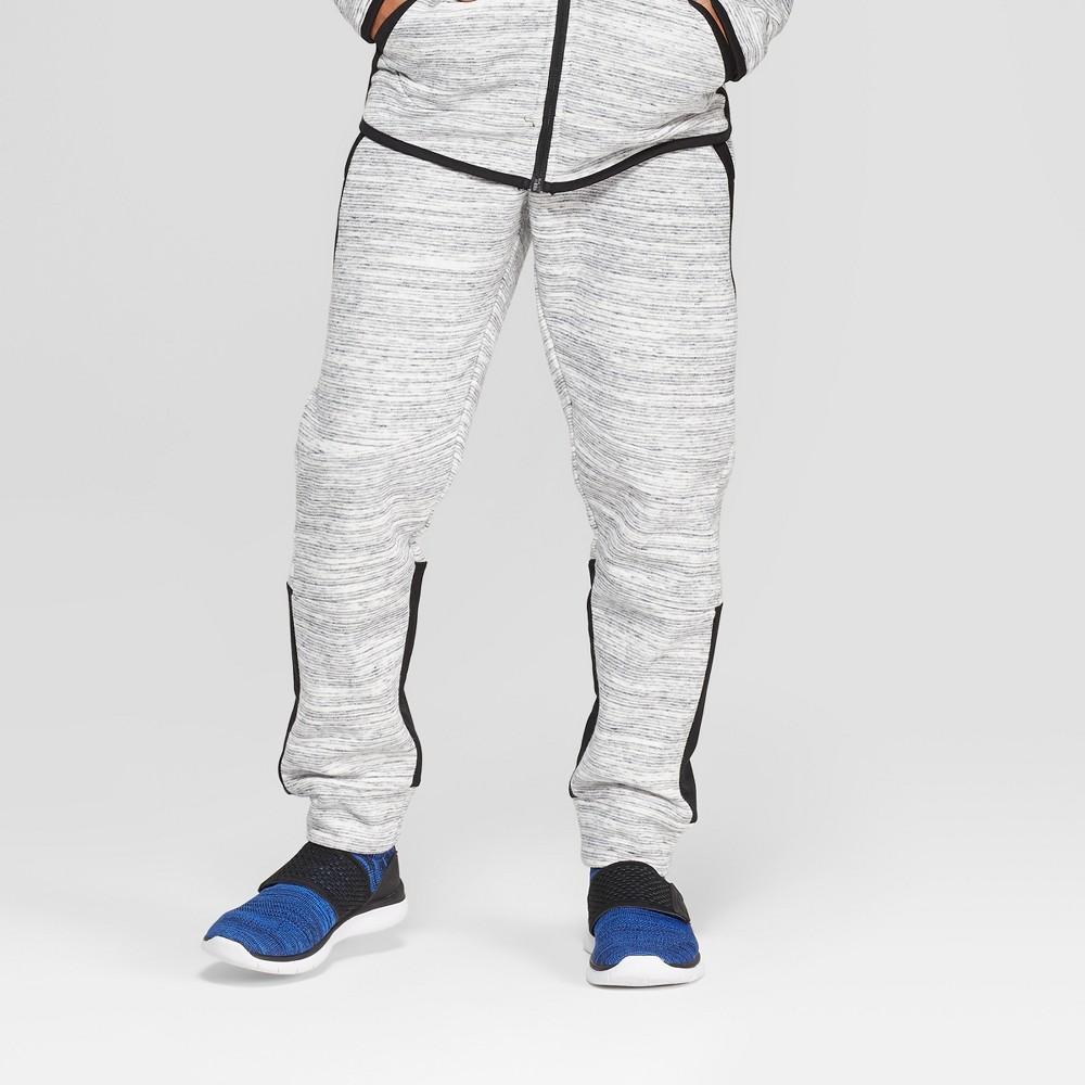 Boys' Premium Woven Pieced Fleece Jogger Pants - C9 Champion Light Gray Heather S, Heather Grey