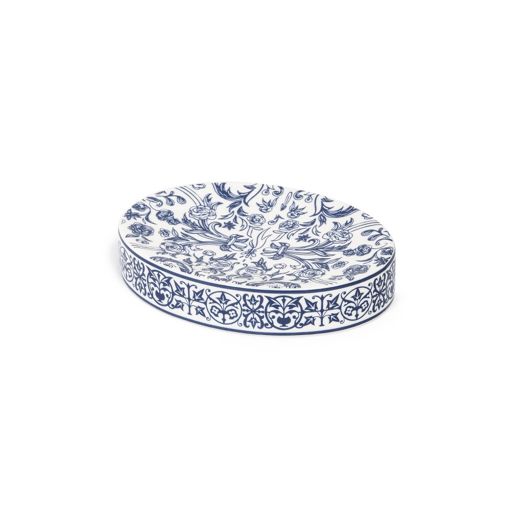 Image of Damask Soap Dish Blue - Cassadecor