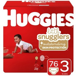Huggies Little Snugglers Diapers - Size 3 (76ct)