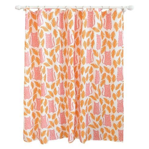 Cheetah Shower Curtain Apricot
