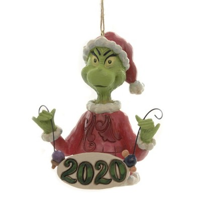 """Jim Shore 4.0"""" Grinch String Ornaments 2020 Dated Dr Seuss  -  Tree Ornaments"""
