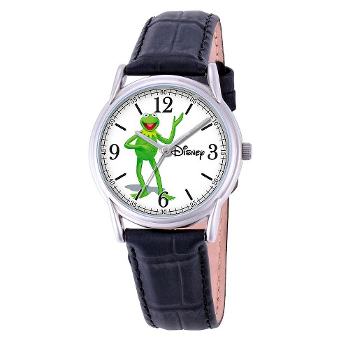 Men's Disney® Kermit The Frog Cardiff Watch - Black - image 1 of 2