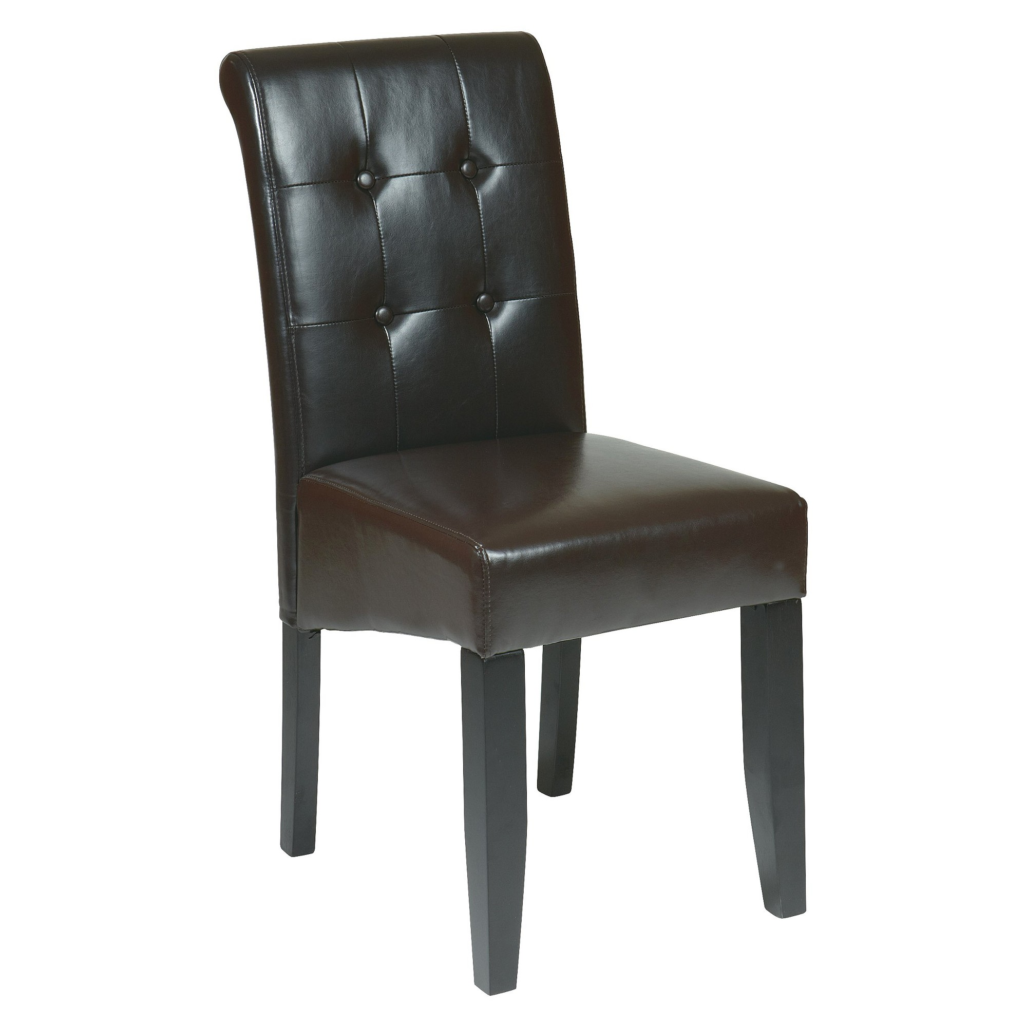 Parsons Button Back Nailhead Trim Dining Chair Wood/Espresso - Office Star, Brown