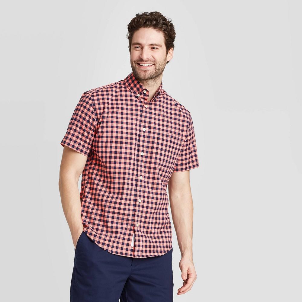 en 39 s Checked Standard Fit Short Sleeve Button Down Shirt Goodfellow 38 Co 8482