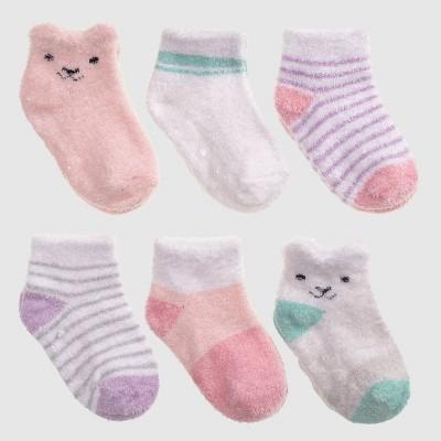 Baby 6pk Bear Low Cut Socks - Cat & Jack™ 12-24M