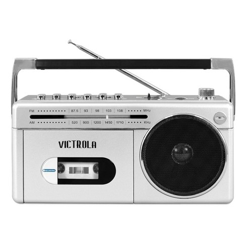 Victrola Mini Bluetooth Boombox with Cassette Player, Recorder and AM/FM Radio - image 1 of 3