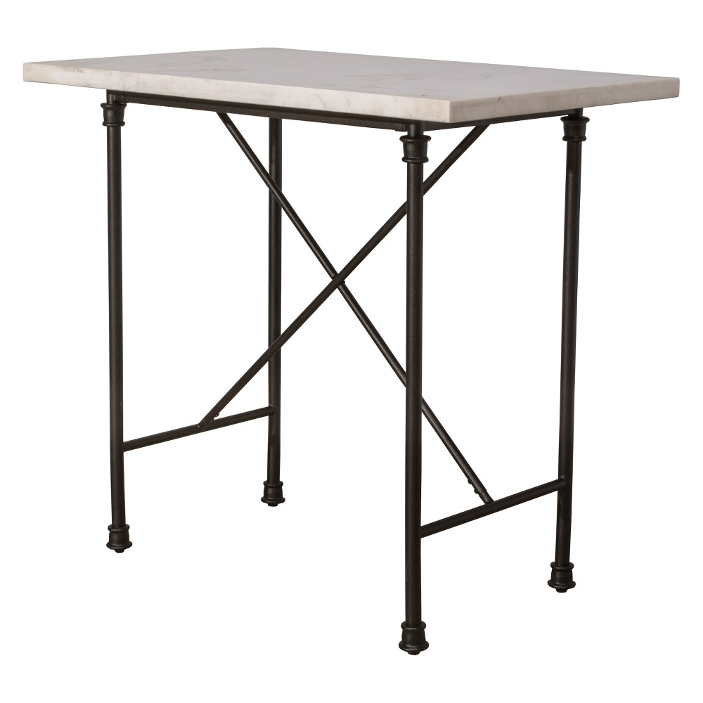 Castille Counter Height Table Textured Black / White - Hillsdale Furniture