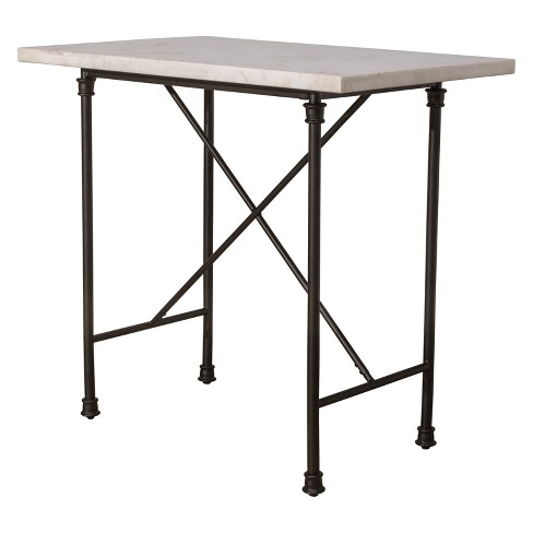 Castille Counter Height Table Textured Black / White - Hillsdale Furniture - image 1 of 2