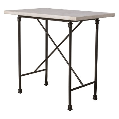 Castille Counter Height Table Textured Black / White   Hillsdale Furniture