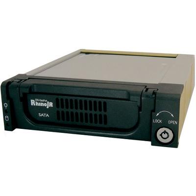 "CRU RhinoJR 110 SATA II Removable HDD Enclosure - 1 x 3.5"" - 1/3H Internal Hot-swappable - Internal - Black"