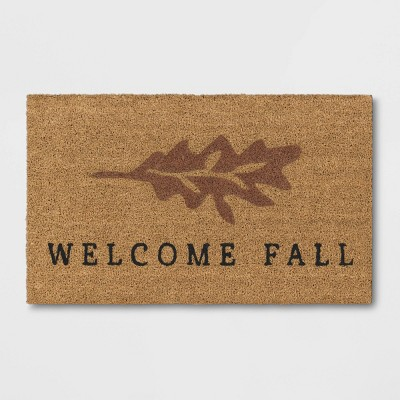 """1'6""""x2'6"""" Welcome Fall Harvest Doormat Natural - Threshold™"""