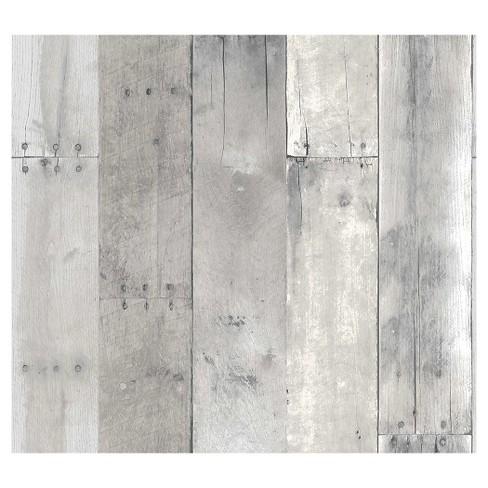 Devine Color Reclaimed Wood Peel Stick Wallpaper Mirage Target