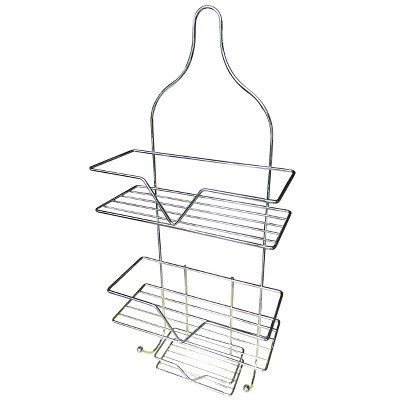 Hanging Shower Caddy with Soap Tray Light Steel - Elegant Home Fashions