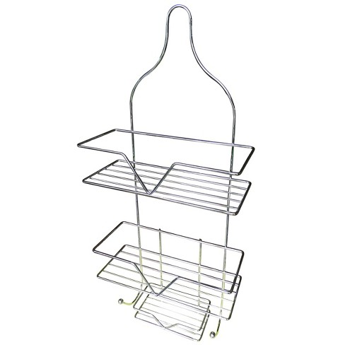 Hanging Shower Caddy with Soap Tray Light Steel - Elegant Home Fashions - image 1 of 2