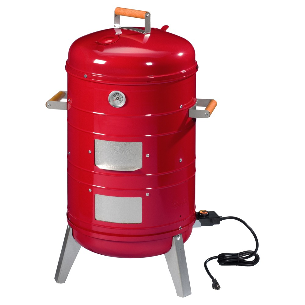 Image of Southern Country 4-in-1 Smoker & Electric or Charcoal Grill 5035U4.511, Red