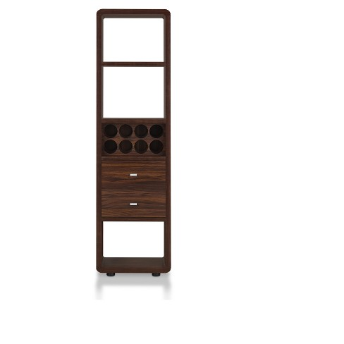 Iohomes Sierri Contemporary Wine Cabinet Dark Walnut Homes Inside Out Target