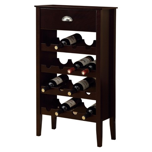 Wine Rack - 16 Bottle Storage - Cappuccino - EveryRoom - image 1 of 2