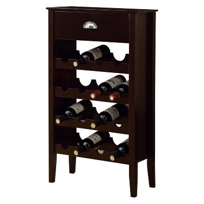 Wine Rack   16 Bottle Storage   Cappuccino   EveryRoom