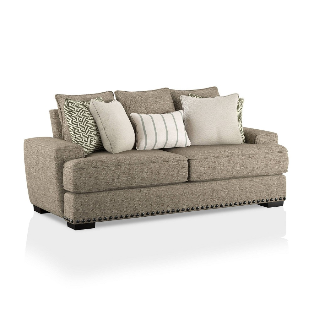 Cheap Pembridge Upholstered Sofa Taupe - HOMES: Inside + Out