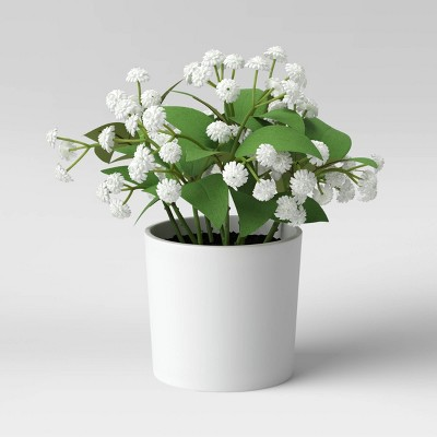 "8.5"" x 8"" Artificial Baby Breath Arrangement - Threshold™"