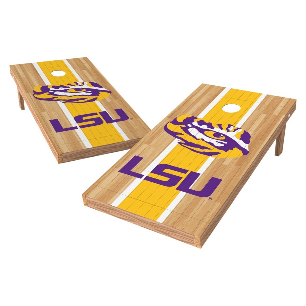 NCAA Wild Sports2' x 4' Heritage Design Authentic Cornhole Set Lsu Tigers, Purple/Gold