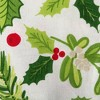 Boughs Of Holly Print Table Set - Design Imports - image 4 of 4