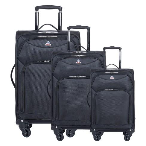 "InUSA Light-Fi 3pc Spinner Luggage Set 20""& 24""& 28"" - Black - image 1 of 7"