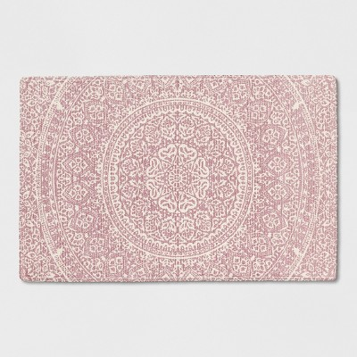 Pink/White Floral Braided Accent Rug 2'X3' - Opalhouse™