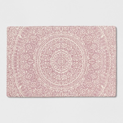 Pink White Fl Braided Accent Rug 2 X3 Opalhouse