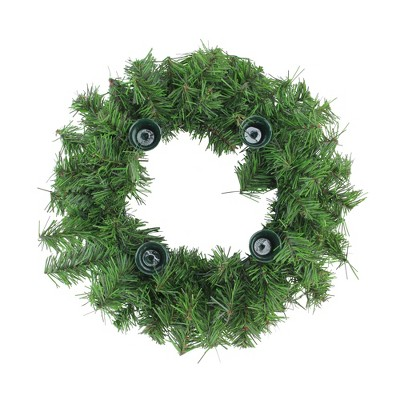 """Northlight 12"""" Two-Tone Pine Artificial Advent Christmas Wreath"""