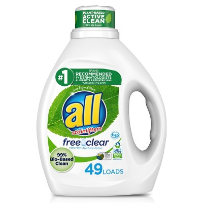 All Free Clear Pure Liquid Laundry Detergent 49 Loads - 88 fl oz