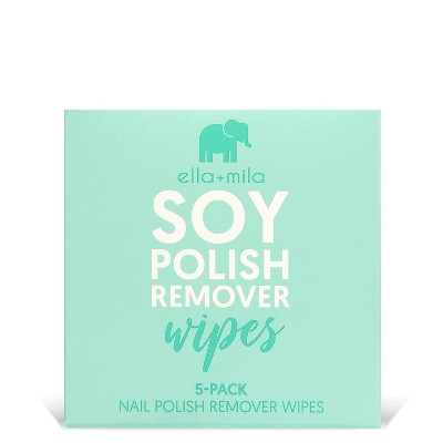 ella+mila Soy Nail Polish Remover Wipes - 5ct