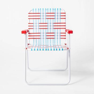 Americana Webstrap Chair Red/White/Blue - Sun Squad™