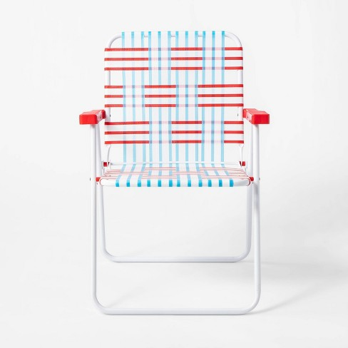 Admirable Americana Webstrap Chair Red White Blue Sun Squad Pdpeps Interior Chair Design Pdpepsorg