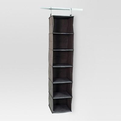 6-Shelf Hanging Closet Organizer - Gray Birch - Threshold™