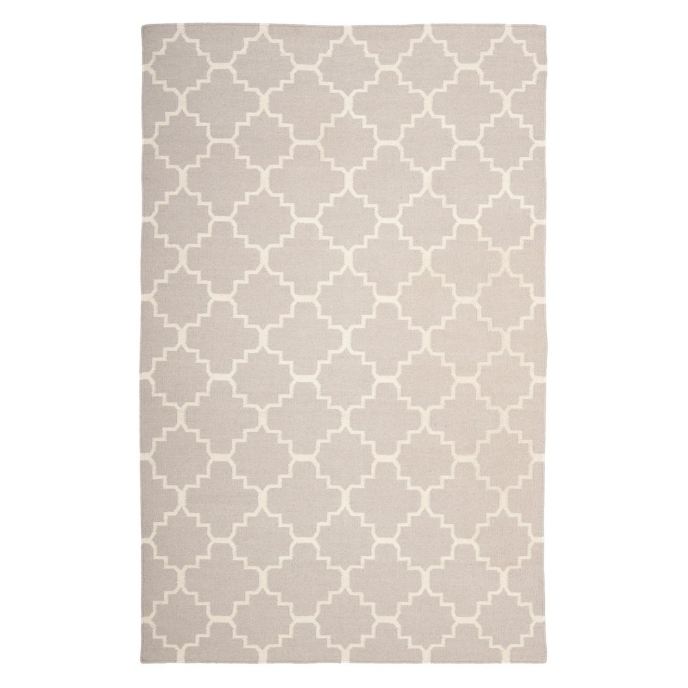 11'X15' Quatrefoil Design Area Rug Gray/Ivory - Safavieh