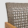 Doral 3pc Acacia Wood Dining Set Teak - Christopher Knight Home - image 3 of 4