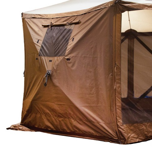 Clam Outdoors Quick-Set® 2-Pack Screen Shelter Wind Panels with Windows - Brown - image 1 of 1