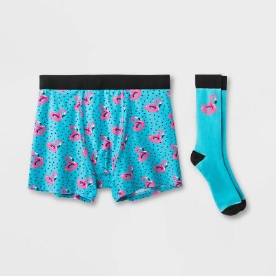 Men's Mad Engine Flamingo Boxer Briefs - Blue/Pink