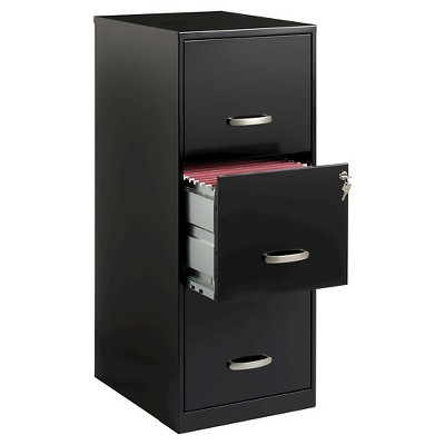 Superior Hirsh Industries® Space Solutions File Cabinet, 3 Drawer   Black : Target