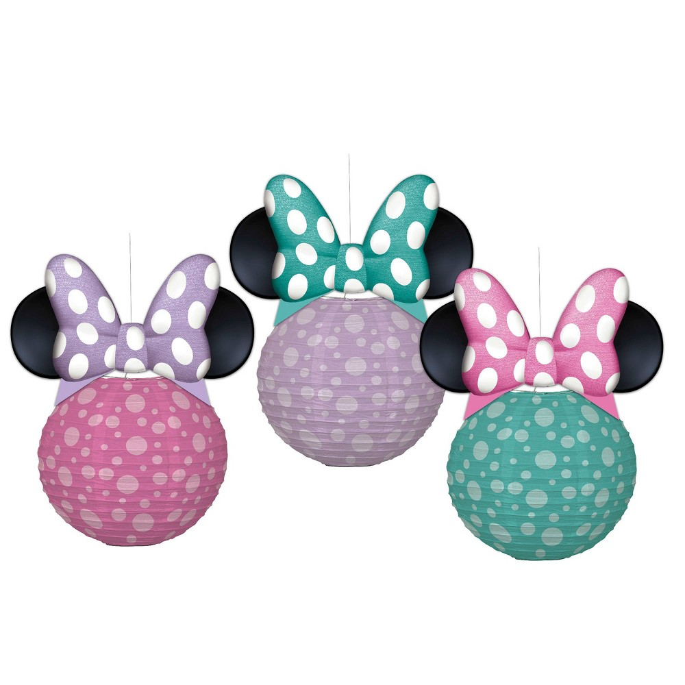 Image of 3 ct Minnie Mouse Paper Lantern, Girl's