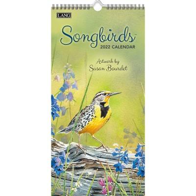"""2022 Vertical Wall Calendar 7.75""""x15.5"""" Songbirds - Lang"""